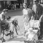 Marion and Pete with their first child, Christopher, 1949